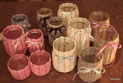 13 crochet candle holders