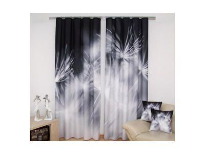 3D dekorační závěs 37 PAMPELIŠKA 160x250 cm MyBestHome Varianta: závěsy - 2 kusy 160x250 cm