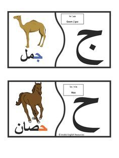 Arabic alphabet puzzles.This file is a set of all the Arabic letters with the picture of their initial sounds.