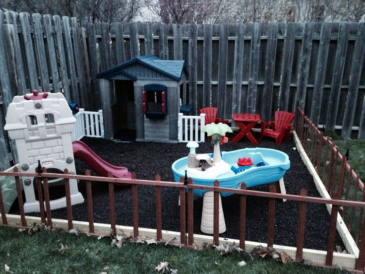 Toddler outdoor play area