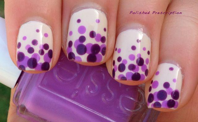 Polished Prescription: Purple Polka Dot Gradient