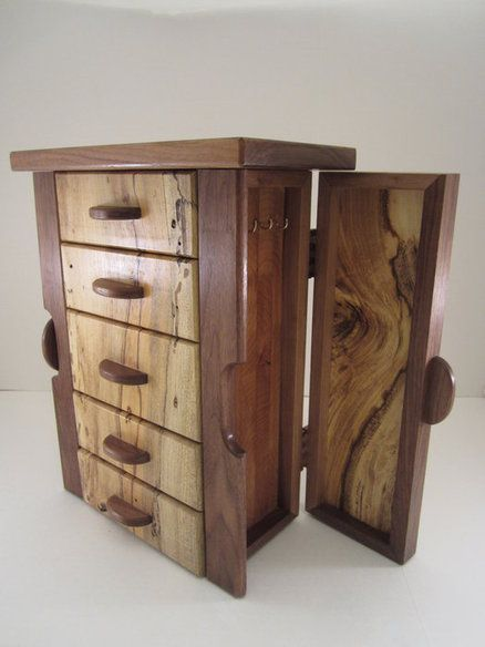 Build small wooden jewelry box woodworking projects plans for Jewelry box made of wood