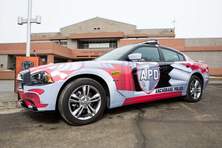 New dodge charger police cruiser for anchorage police for Department of motor vehicles anchorage alaska