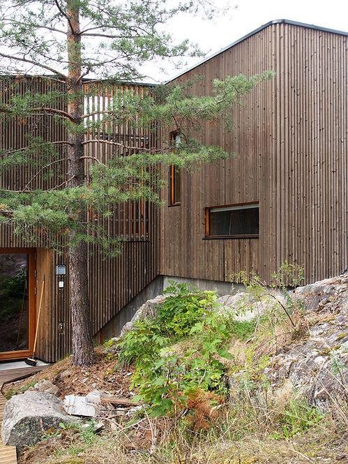 Single family house Sættenes in Kongsberg. Architect: Knut Hjeltnes Arkitekter.