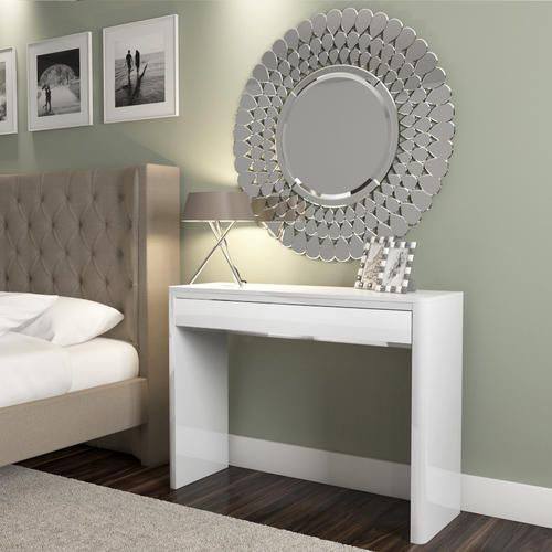 Buy Lexi White High Gloss Dressing Table from Furniture123 - the UK's leading online furniture and bed store