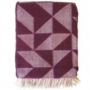 Twist A Twill Bordeaux Wool Blanket