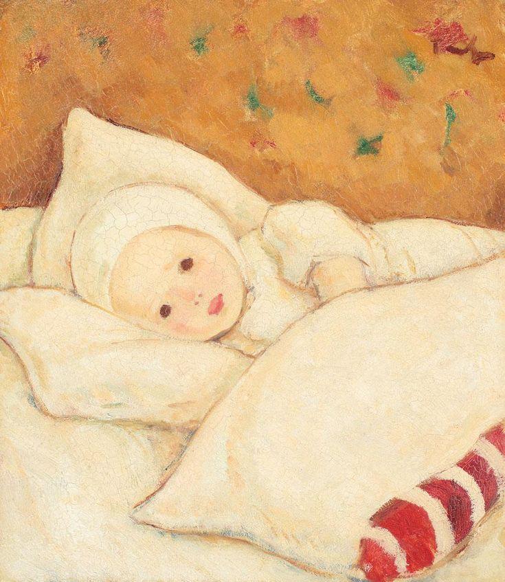 Girl in White - Nicolae Tonitza