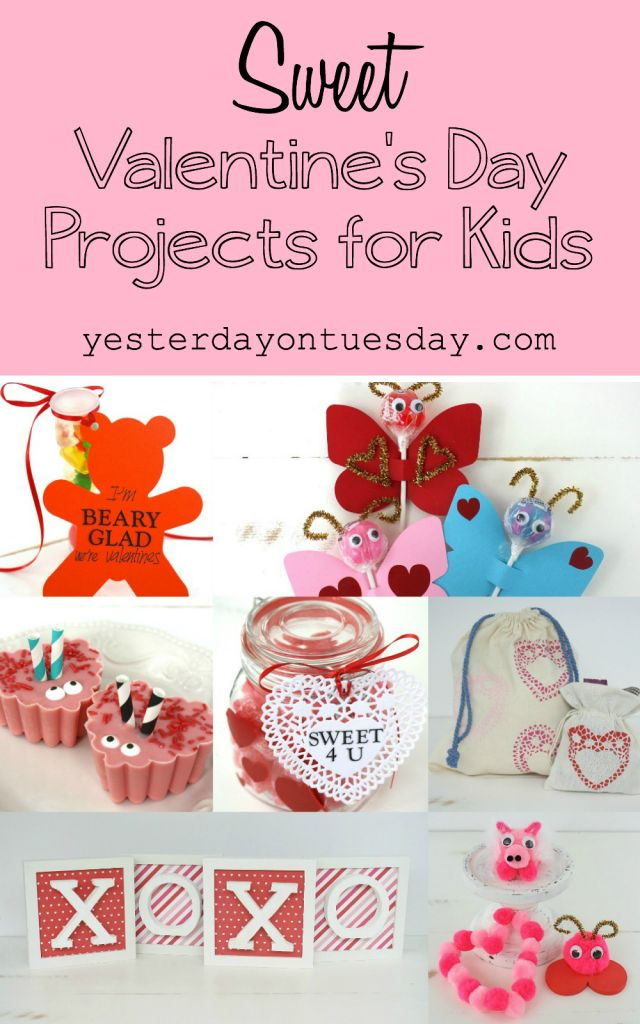 Sweet Valentines Day Projects For Kids Including Handmade