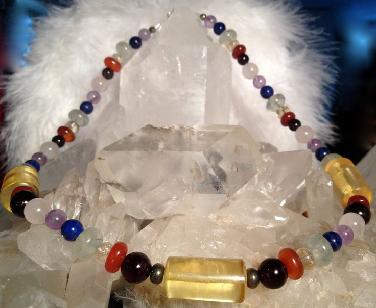 Chakra Healing Necklace With Amber for Amplified Solar Plexus Empowerment by ArchangelOracle on Etsy