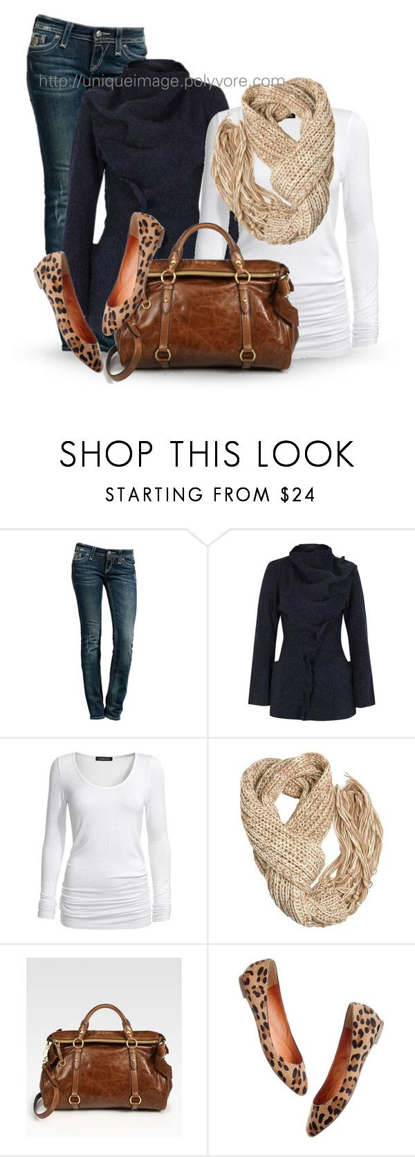 """""""Winter Outfit #8"""" by uniqueimage ❤ liked on Polyvore featuring Rock Revival, Gróa, Isabella Oliver, A Wear, Miu Miu and Madewell"""