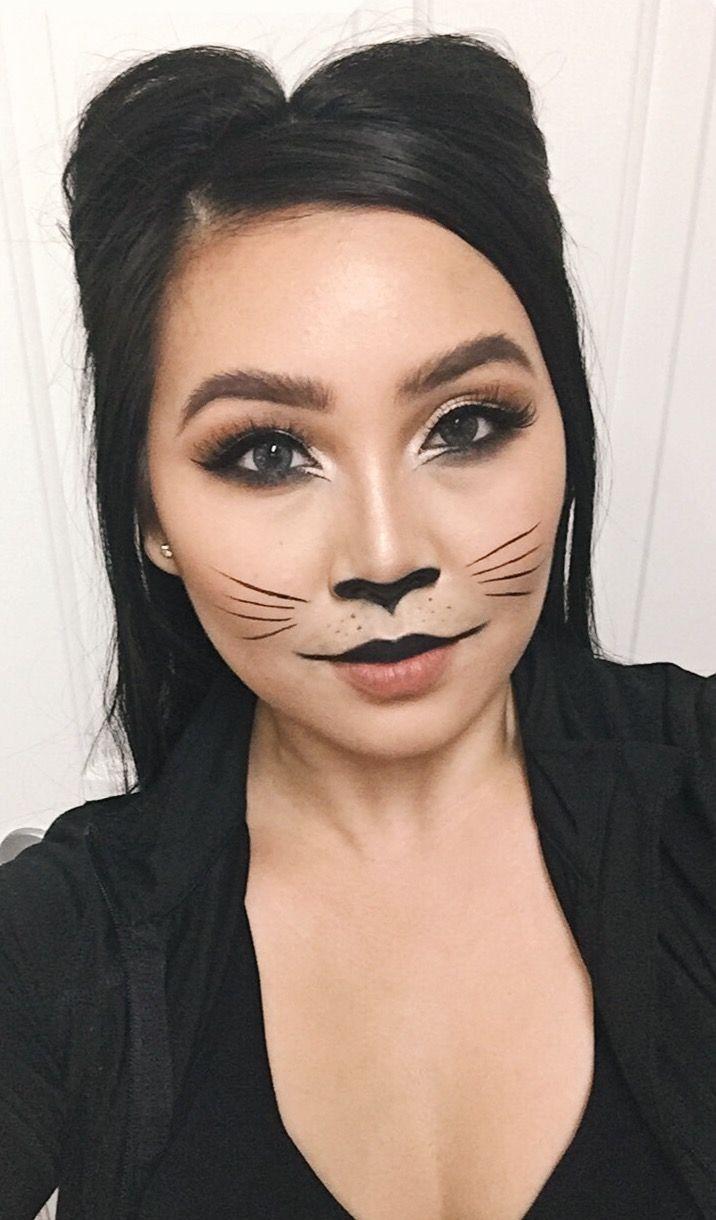Cat Halloween Makeup Last Minute Halloween Costume Diy Cat Ears Hairstyle Catsdiyart Indoor Cat Halloween Makeup Halloween Makeup Last Minute Cat Costume Diy