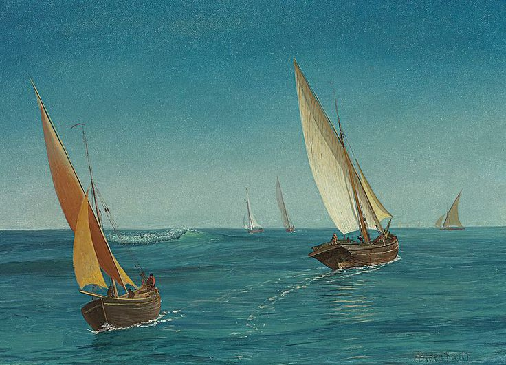 On The Mediterranean  Painting  - On The Mediterranean  Fine Art Print