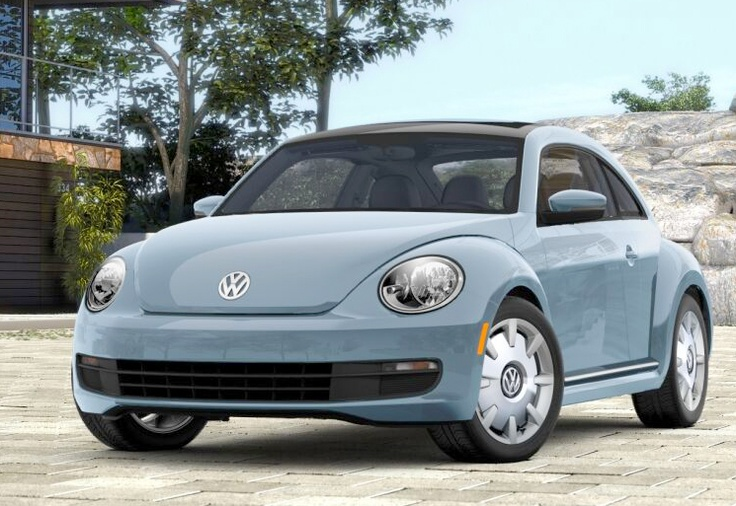 New VW Beetle Denim Blue, I want :)