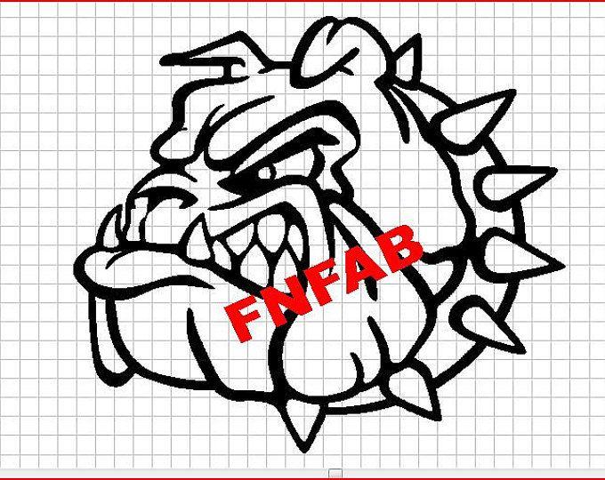 Knurrend Stier Hund Dxf-Datei für CNC Plasmaschneiden