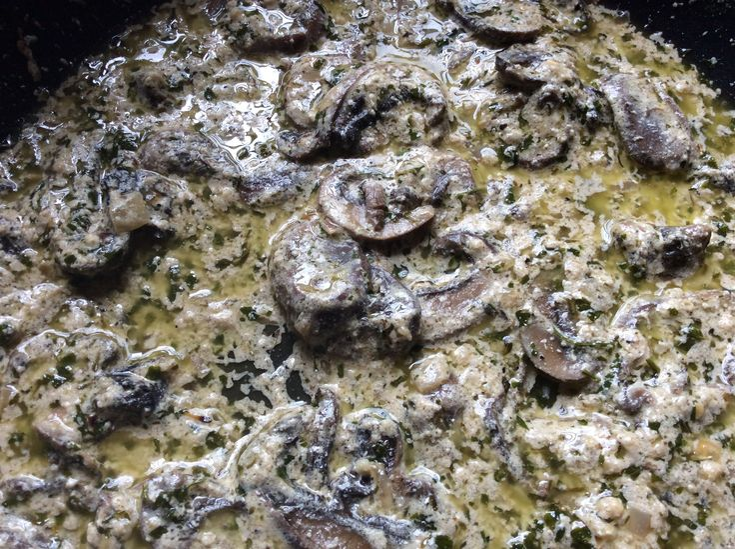 Garlic Mushroom Sauce for Pasta
