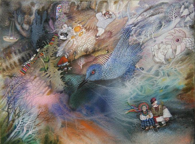 Авторские галереи - 1-Андрухина Марина Игоревна / Синяя птица жизни / Живопись [Быт]
