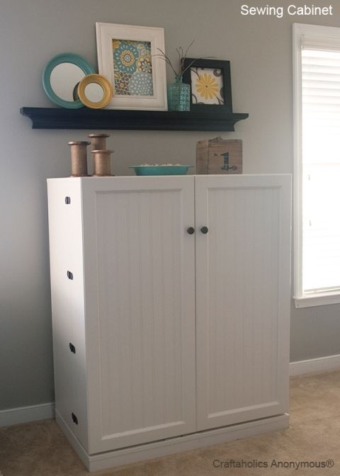 You have to see how this sewing cabinet folds out to a complete sewing station. Its totally awesome!