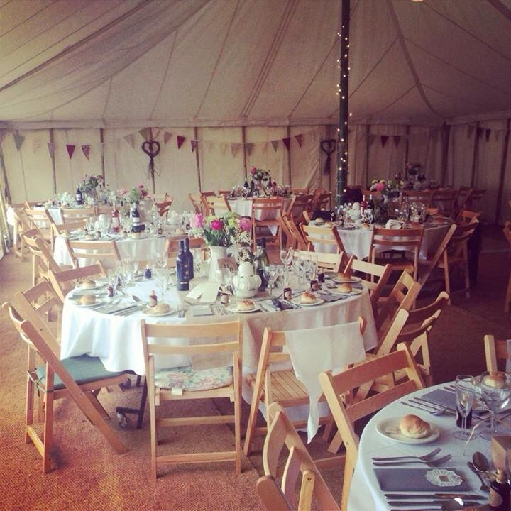 Welsh country vintage marquee wedding