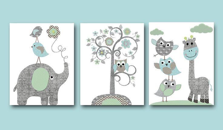 Baby Boy kwekerij Art Print kwekerij Wall Art Kids door artbynataera