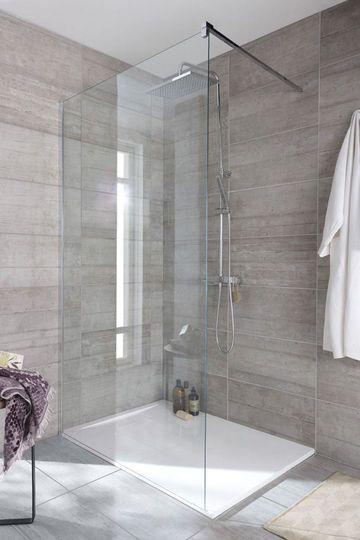 Les 25 meilleures id es de la cat gorie salles de bains for Salle de bain carrelage gris beton
