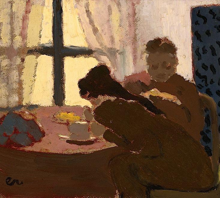 ÉDOUARD VUILLARD / Petit Déjeuner Devant La Fenêtre