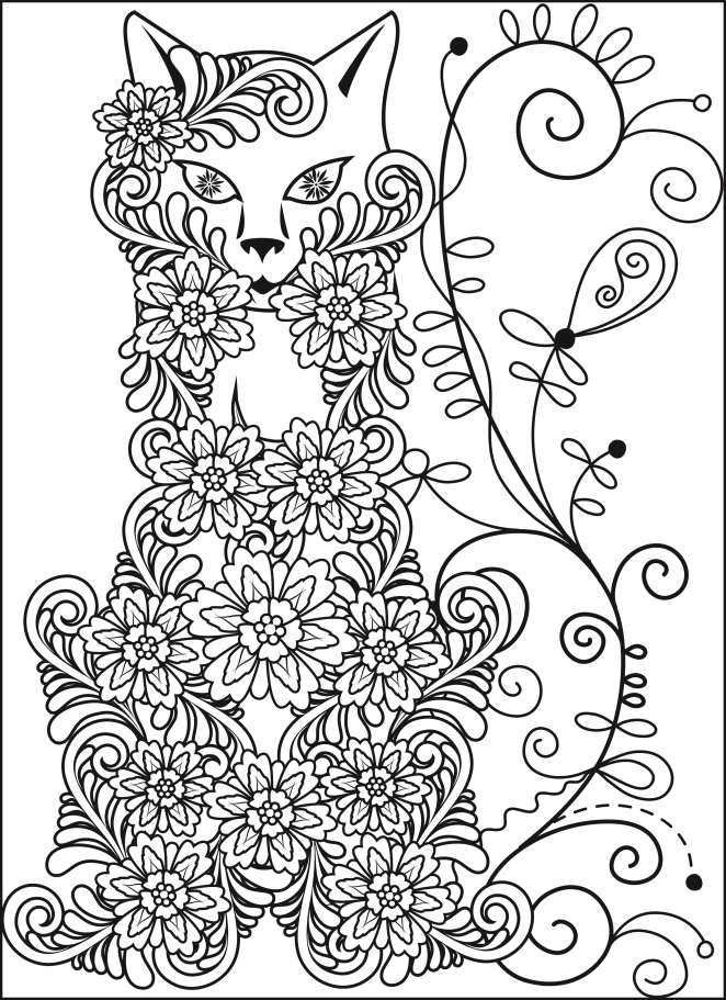 Adult coloring book stress relief designs adult colouring for Stress relief coloring pages online