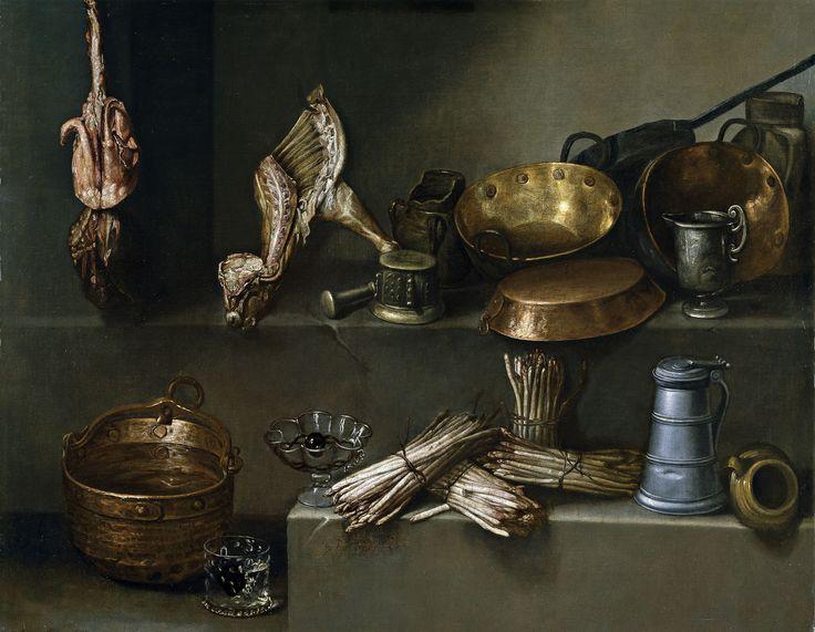 Bodegón con recipientes de cocina y espárragos Ignacio Arias, ca. 1652.j