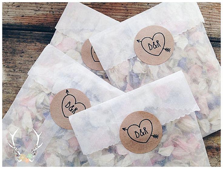 Sobrecitos de papel calco con calcomanía. Puede funcionar.