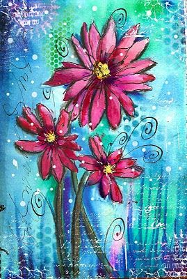 Art du Jour by Martha Lever: I think they might be Daisies...