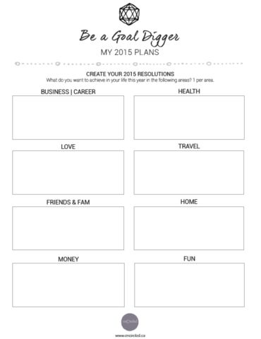 Love this free printable 2015 New Year's Resolution planner. Set goals in 8 areas of your life, and achieve them! Finally!