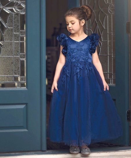 2ecaf18cd Trish Scully Child Navy Bianca Gown - Toddler & Girls | zulily ...