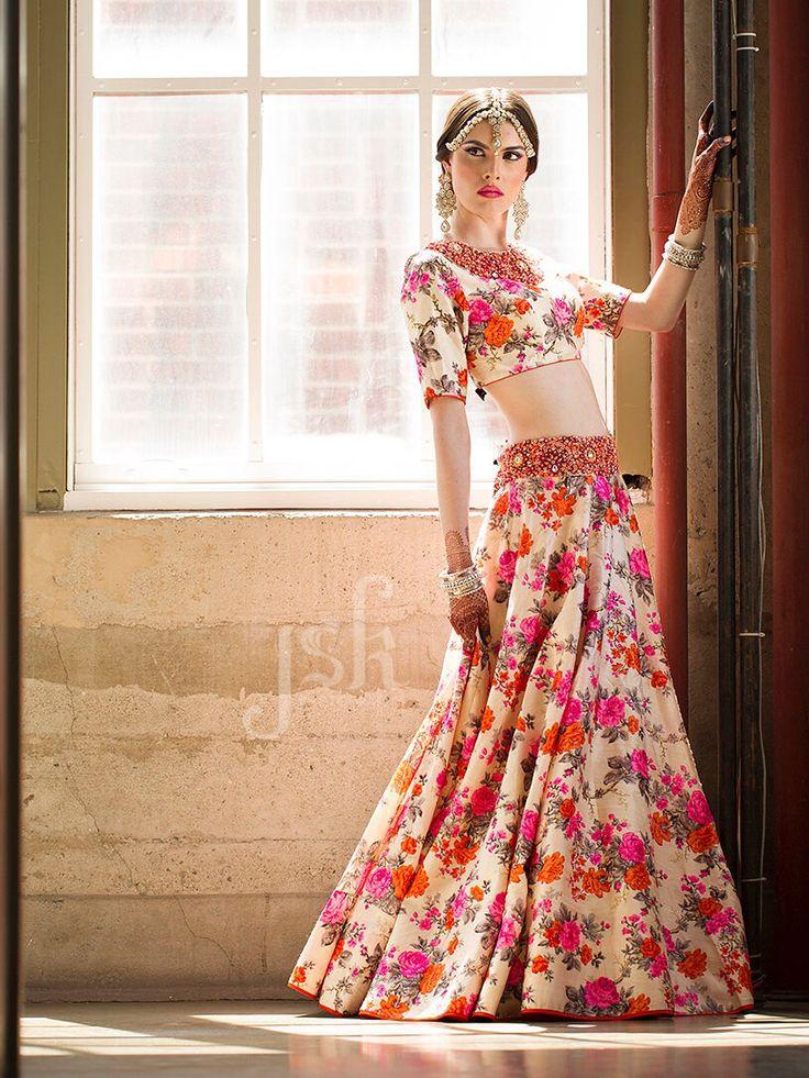 Floral print lengha. Fashion photography | JSK Designer ...