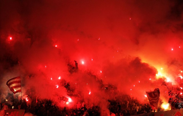 red star belgrade fans... passionate