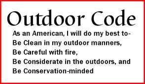 The Outdoor Code - Boy Scouts of America  Lion Cub Scouts - Lion Adventures - Mountain Lion   Quick overview. Leave only Footprints, Take only pictures