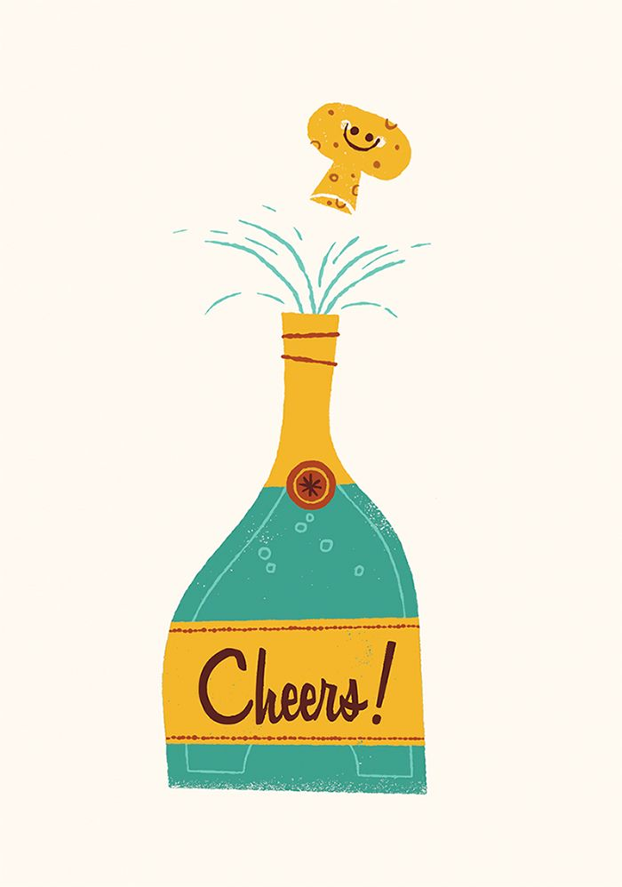 181 Best Images About Champagne Illustrations On Pinterest