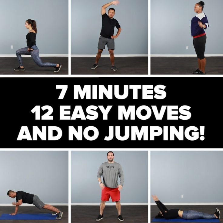 12 Easy No-Jumping Workout Moves #workout #quick #simple #strength