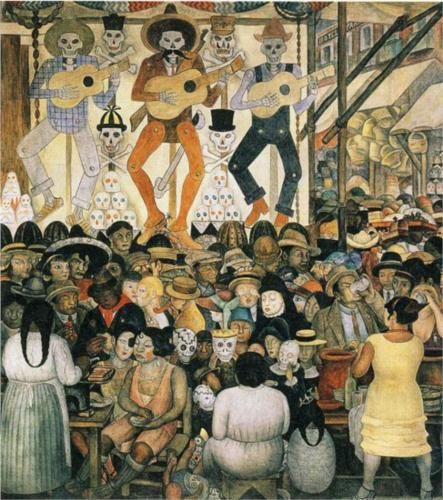 Diego Rivera Day of the Dead Mural - Ministry of Education, Mexico City