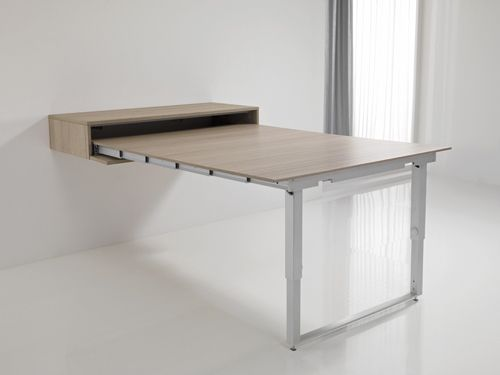 Table qui se replie contre le mur for Table de cuisine retractable