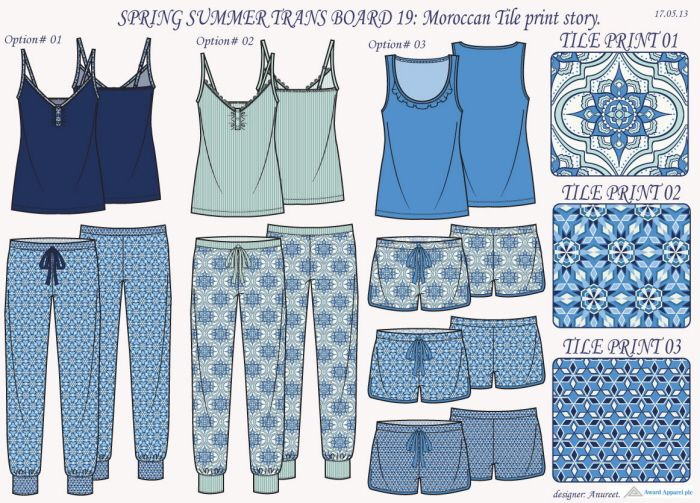 Sleepwear collections by Anureet Randhawa at Coroflot.com