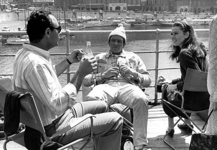 Stanley Donen, Albert Finney and Audrey Hepburn during the ...