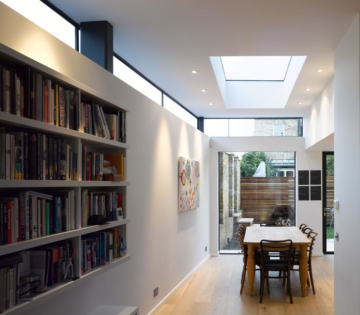 Love the clerestory windows on this extension, amazing natural light!