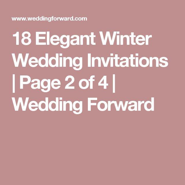 18 Elegant Winter Wedding Invitations   Page 2 of 4   Wedding Forward