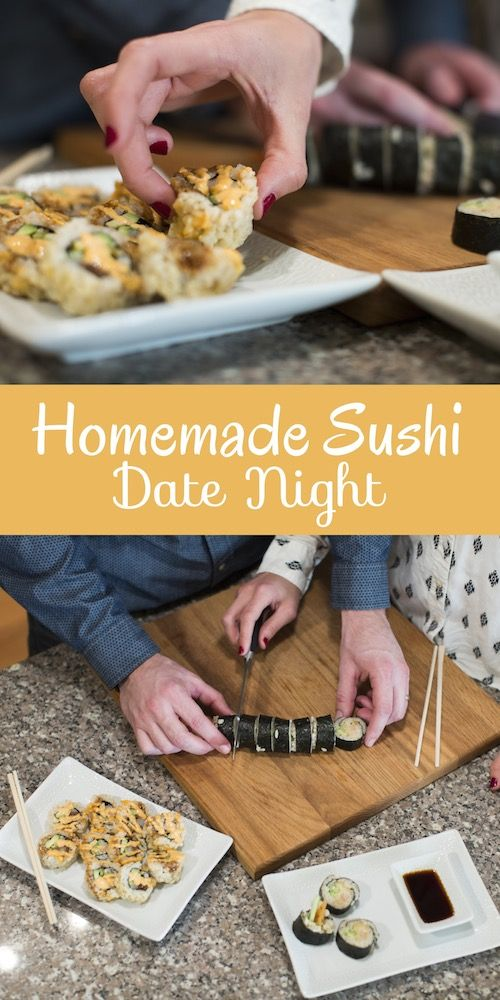 Have a Sushi Date Night and make your own sushi from home!