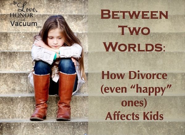 When parents divorce, kids spend long amounts of time away from each parent, so nobody actually shares the child's whole life anymore. how divorce affects kids, divorce and kids
