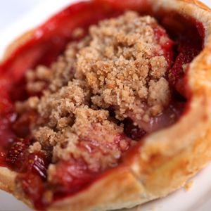 Flo's V-8 Cafe' Strawberry-Rhubarb Pie....Carsland at Disney California Adventure
