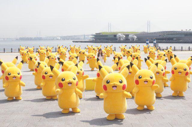 image:ピカチュウ50匹が赤レンガ倉庫を埋め尽くす! 史上最多のピカチュウ撮影会