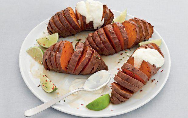 Hasselback Sweet Potatoes Recipe | Orange Foods Are Best | Pinterest
