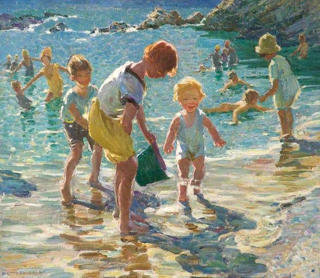 Low Tide - Dorothea Sharp (British, 1874-1955)