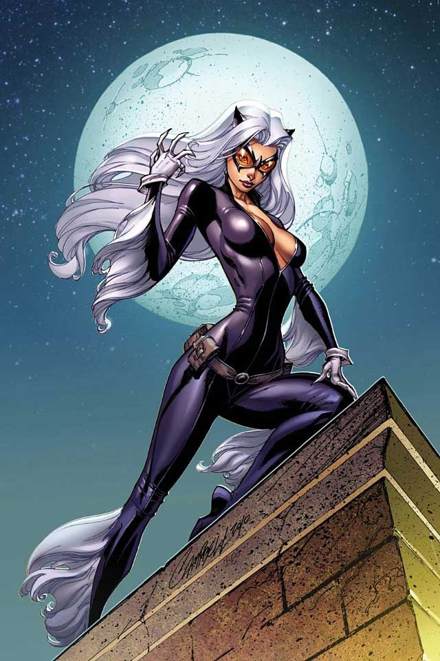 Black Cat - J. Scott Campbell  Auction your comics on http://www.comicbazaar.co.uk