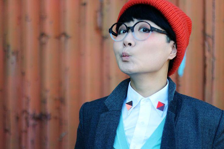 KAIBOSH   Visual artist VANESSA GONG wears SHUT UP & KEEP TALKING in TORTOISE/CLEAR.